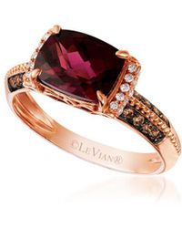 Le Vian - Chocolate & Vanilla Diamond, Raspberry Rhodolite And 14k Strawberry Gold Ring - Lyst