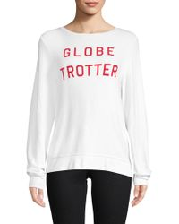 Wildfox - Globe Trotter Long-sleeve Top - Lyst