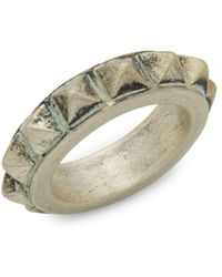 Valentino - Distressed Spike Ring - Lyst