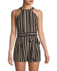 Moon River - Sleeveless Multi-striped Romper - Lyst