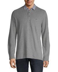 Saks Fifth Avenue - Fashion Long-sleeve Cotton Polo - Lyst