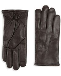 Saks Fifth Avenue - Classic Leather Gloves - Lyst