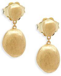 Marco Bicego - 18k Yellow Gold Drop Earrings - Lyst