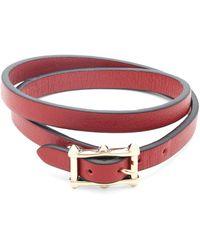 Valentino - Double Wrap Leather Bracelet - Lyst