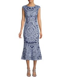 9e1710bc89b JS Collections Soutache Midi Dress in Blue - Save 62% - Lyst
