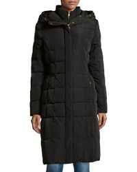 Cole Haan - Hooded Quilted Down Coat - Lyst