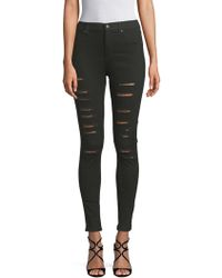 Cheap Monday - Ripped Skinny Stretch Jeans - Lyst