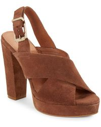 Kenneth Cole - Lola Open Toe Ankle Buckle Sandals - Lyst