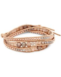 Chan Luu - Agate And Leather Multi-strand Bracelet - Lyst