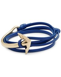 Miansai - Stainless Steel & Leather Anchor Bracelet - Lyst