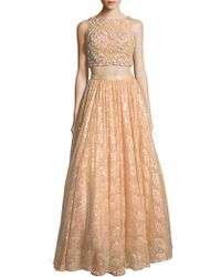 Mac Duggal - Embellished Sleeveless Cropped Top & Skirt - Lyst