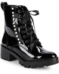 84fe6c7460d Lyst - Karl Lagerfeld Paris Sadie Embellished Leather Ankle Boot in ...