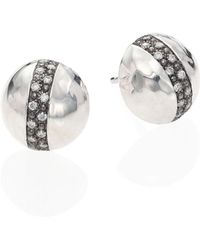 Ippolita - Glamazon Stardust Diamond & Sterling Silver Dome Stud Earrings - Lyst