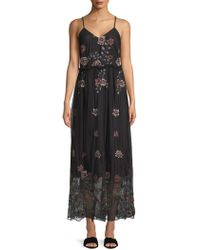 Lea & Viola - Embroidered Mesh Dress - Lyst