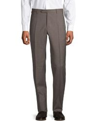 Zanella - Plaid Wool Pants - Lyst