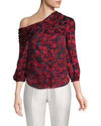Saloni - Ness Floral-print Silk Top - Lyst