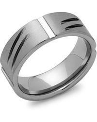 Perepaix - Grooved Tungsten Ring - Lyst