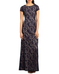 Donna Morgan - Cap Sleeve Lace Gown - Lyst