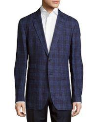 Façonnable - Plaid Linen Jacket - Lyst