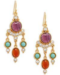 Ben-Amun - Crystal Chandelier Earrings - Lyst