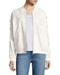 Opening Ceremony - Broderie Anglaise Cotton Bomber Jacket - Lyst