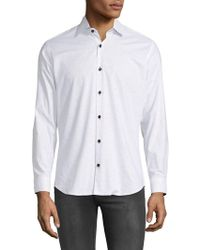 Jared Lang - Marled Button-down Shirt - Lyst