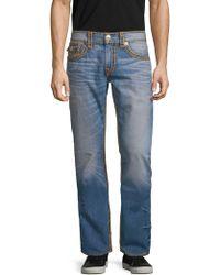 True Religion Straight-leg Whiskered Jeans