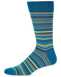 Bugatchi - Multicolored Linear Socks - Lyst