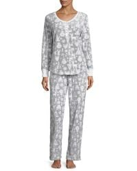 Jane And Bleecker - Graphic Long Pajamas - Lyst