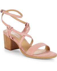 Splendid - Filipa Leather Ankle-strap Sandals - Lyst