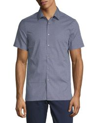 Perry Ellis - Geometric Short-sleeve Button-down Shirt - Lyst