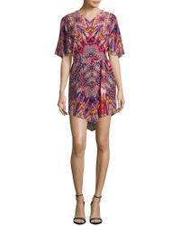 Robert Graham - Silk Short Sleeve Dress - Lyst