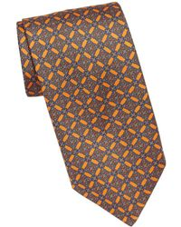 Brioni - Diamond Medallion Silk Tie - Lyst