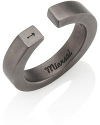 Miansai - Rhodium-plated Sterling Silver Ipsum Ring - Lyst