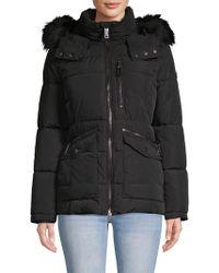 Calvin Klein - Faux Fur-trimmed Hooded Jacket - Lyst