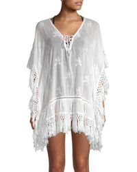 Saks Fifth Avenue - Embroidered Fringe Cover-up Dress - Lyst