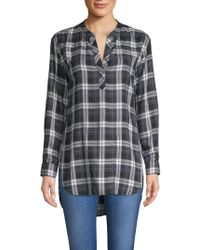 Pure Navy - Popover Plaid Tunic - Lyst