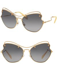561a0c4c4a Miu Miu Sunglasses - Women s Sunglasses - Lyst