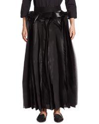 Noir Kei Ninomiya - Layered Maxi Skirt - Lyst