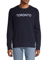 Saks Fifth Avenue - Embroidered Cashmere Jumper - Lyst