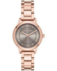 Karl Lagerfeld - Vanessa Stainless Steel Three-hand Bracelet Watch - Lyst