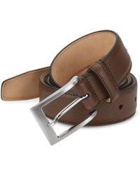 Saks Fifth Avenue - Saffiano Leather Belt - Lyst