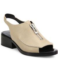 3.1 Phillip Lim - Alexa Slingback Zip Sandals - Lyst