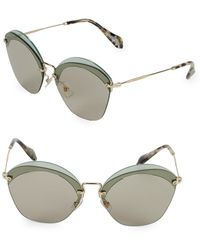 dc4c3937866f Lyst - Dior Issimo 2 Cut Out Logo Metal Shield Sunglasses in Brown