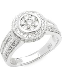 Effy - Diamond & 14k White Gold Solitaire Ring - Lyst