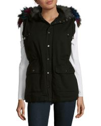 Annabelle New York - Dyed Fox Trimmed Vest - Lyst