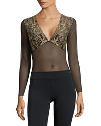 Mimi Holliday by Damaris - Eye Spy Bodysuit - Lyst
