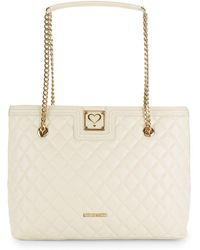 Love Moschino - Quilted Chain Tote Bag - Lyst