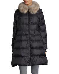 Kate Spade - Faux Fur-trimmed Down Puffer Jacket - Lyst