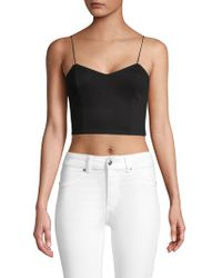 Alice + Olivia - Archer Cropped Top - Lyst